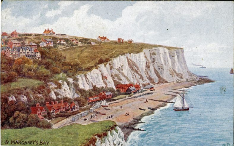 St Margaret's Bay from Ness Point. pre-1920