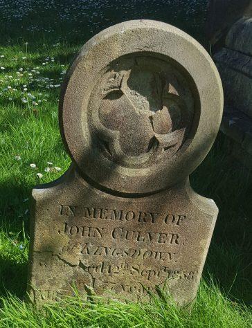 Gravestone of CULVER John 1858; CULVER Eliza 1836