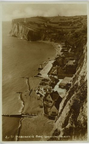 Aerial view of the Village on the Beach St Margaret's Bay.  1937- 1939