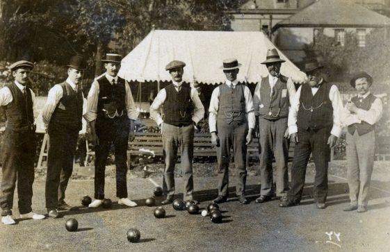 Men's match in progress at St Margaret's Bowls Club.