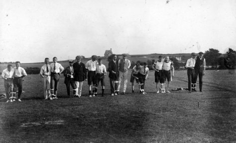 Three Legged Race at St Margaret's Sports Day. 1911