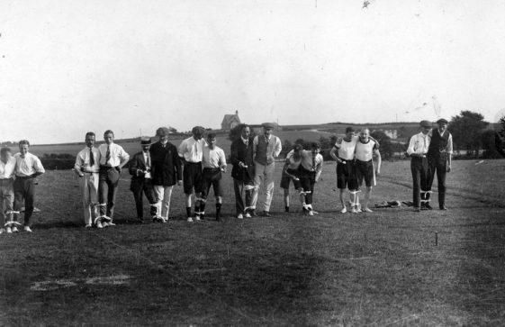 Three Legged Race at St Margaret's Sports Day. 1911