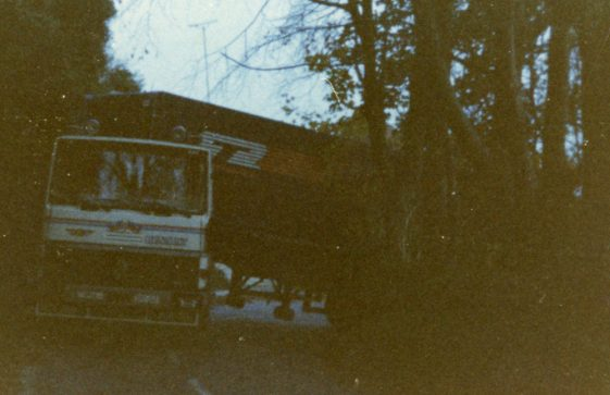 Lorry stuck on Bay Hill. 1983
