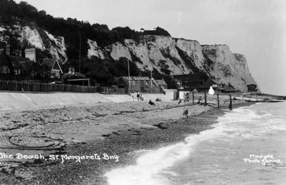 East Cliff from the beach. post 1921