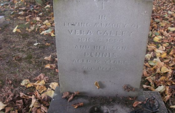Gravestone of GALLEY Dennis 1997; GALLEY Vera 1994