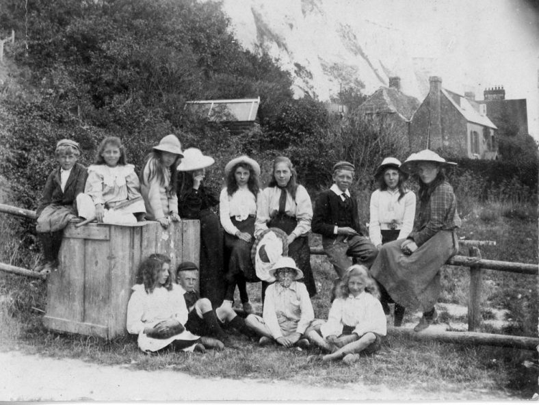 Young people in the Bay.  1906