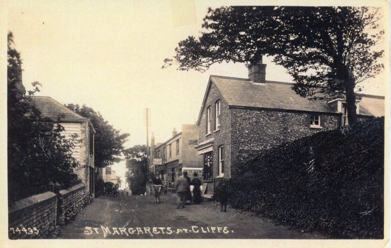 High Street, Cliffe Hotel on left, church wall on right. pre 1903