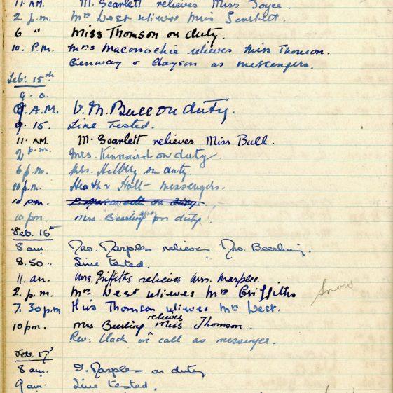 St Margaret's ARP (Air Raid Precautions) Log. Volume 1. 1 September 1939 - 24 July 1940. Pages 61-70