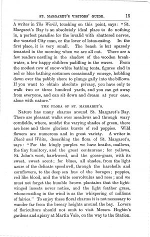 Madge's St Margaret's Guide c.1903. Pages 15 to 22