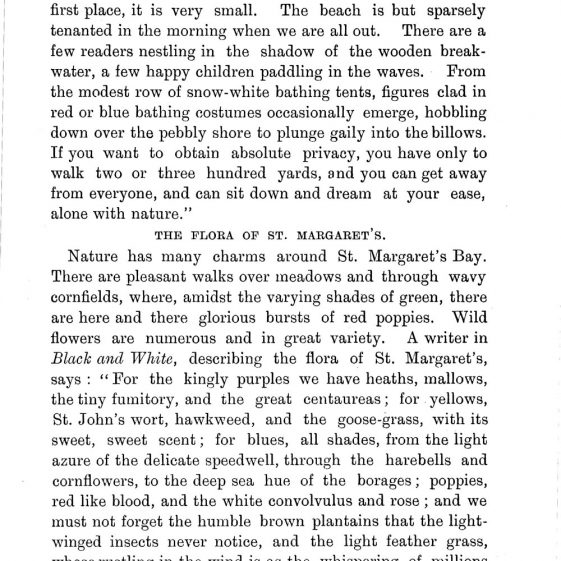 'St Margaret's Visitors Guide' by John Bavington Jones. nd. pages 15 - 22