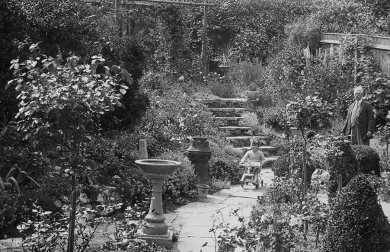 The garden of the Madge Family home in Well Lane