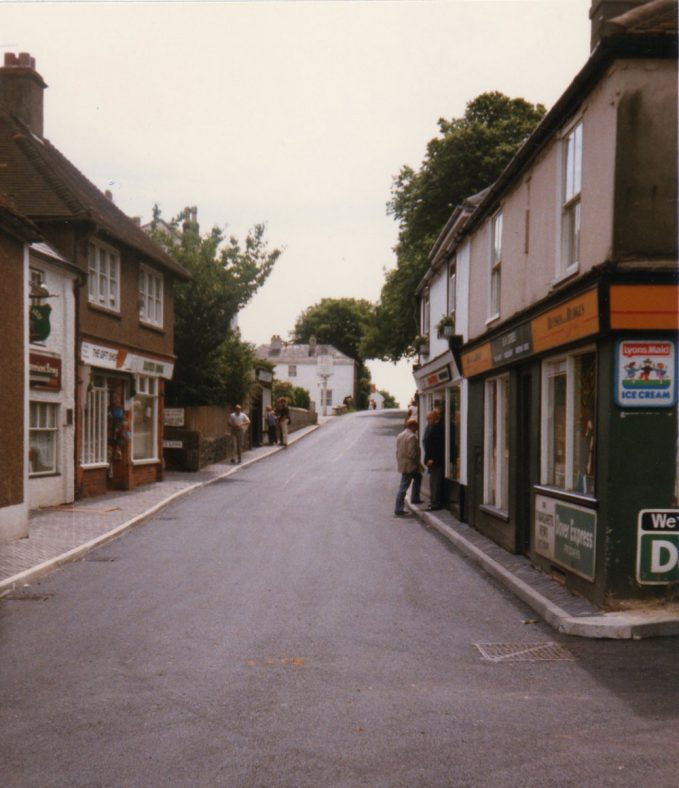Road works in the High Street - Finished (almost) 1986