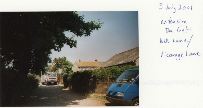 The Croft, Well Lane and the new extension. 2001