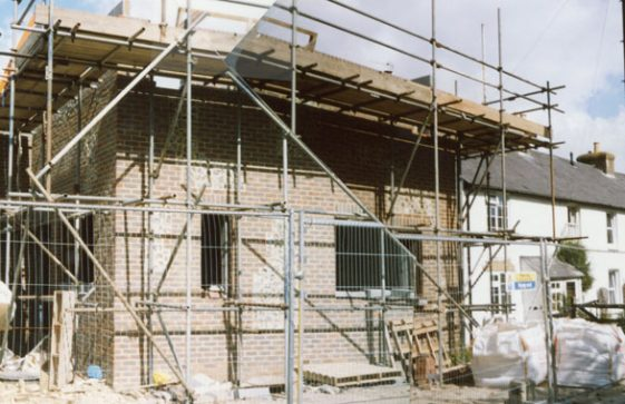 New build house ('Foxley' No 39) adjacent to Forge House, Kingsdown Road. June 2009