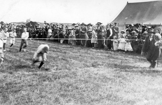 Boys' Race and spectators at St Margaret's Sports Day. c1910