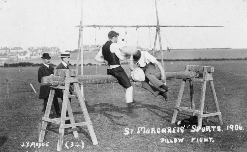 Pillow Fight at St Margaret's Sports Day. 1906