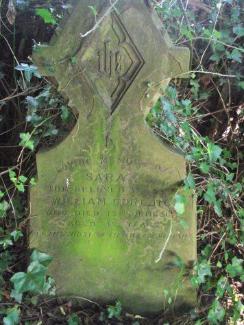 Gravestone of CURLING Sarah 1881