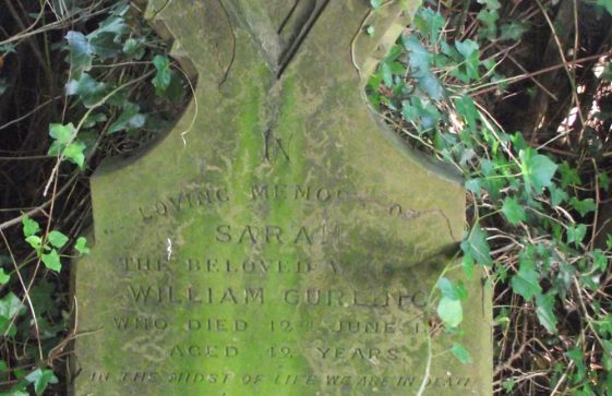 Gravestone of CURLING Sarah 1881