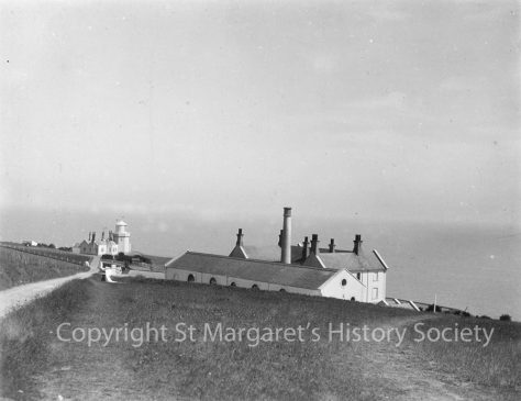 Lower South Foreland Lighthouse, keeper's cottages and power house. pre 1922