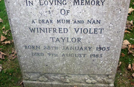 Gravestone of TAYLOR Winifred Violet 1983