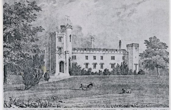 Engraving of Oxney Court. 1838