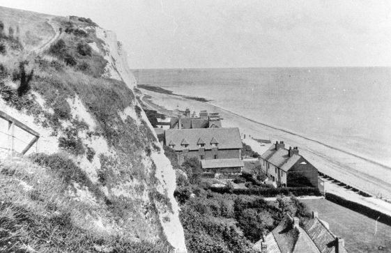St Margaret's Bay from the cliff top. c1900