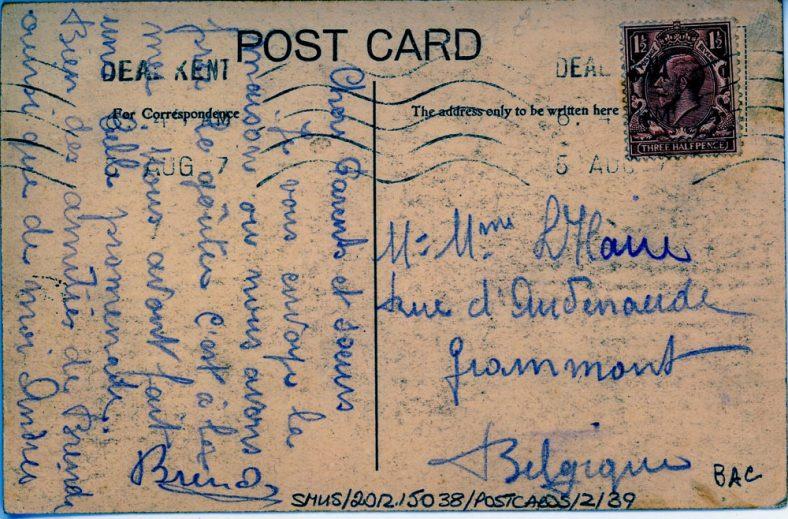 The Excelsior Tea Rooms, St. Margaret's Bay. postmark 1927