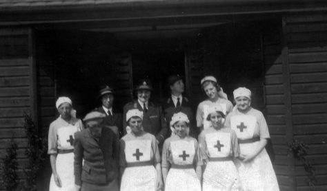 Annie Sharpe in a group of Red Cross Nurses
