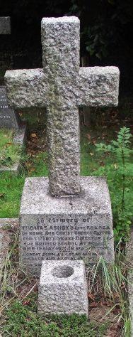 Gravestone of CAMPBELL Robert Ronald 1961; ASHBY Thomas 1931
