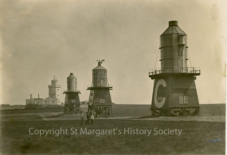 The three Experimental Lighthouses at the South Foreland. 1884/5