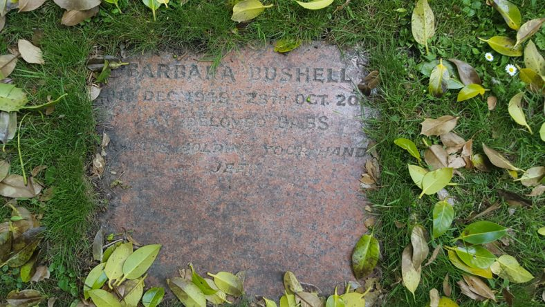 Gravestone of BUSHELL Barbara 2000 | Dawn Sedgwick