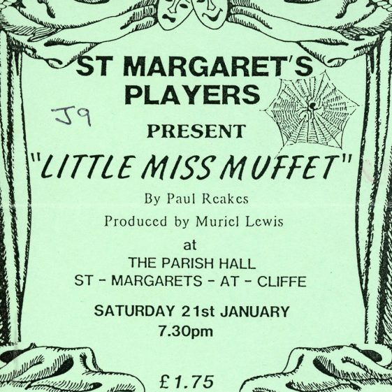 Programme for 'Little Miss Muffet' by St. Margaret's Players 1989