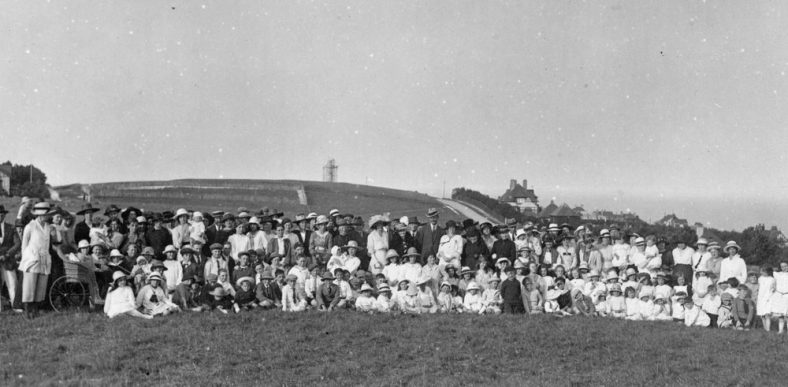 Group photograph of a village gathering c.1921