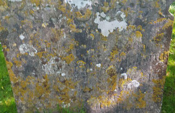 Gravestone of MILLER Richard Raisell 1763; MILLER John 1746