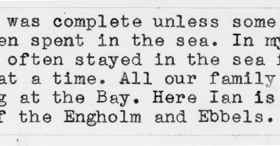 Sea bathing in 1947
