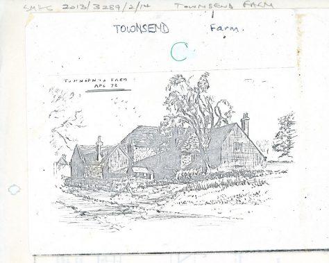 Drawing of Townsend Farm.  April 1972