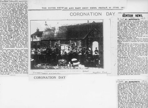 St Margaret's plans for celebrating the Coronation of 11th June 1911