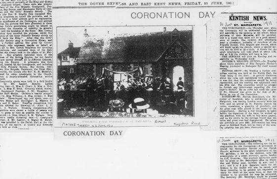 St Margaret's plans for celebrating the Coronation of 11th June 1911