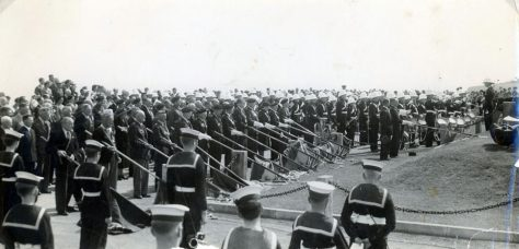 Annual ceremony at the Dover Patrol Memorial. no date