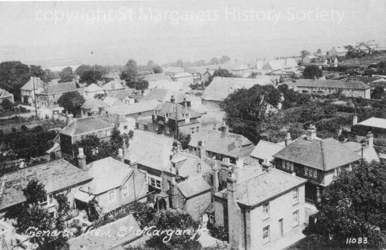 St Margaret's from the church tower looking NNW. No date.