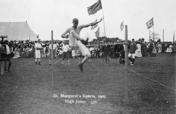 High Jump at St Margaret's Sports Day. 1907