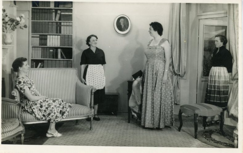 Scene from an unidentified St Margaret's Players production. Probably 1950s