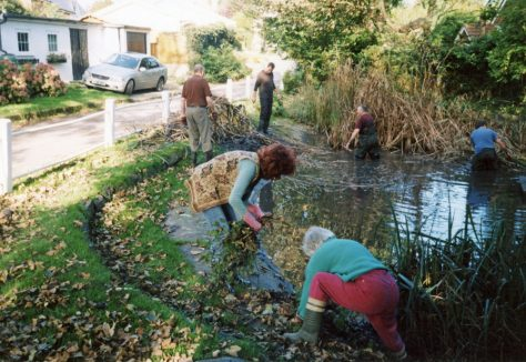 Chapel Lane, pond clearance. 2007