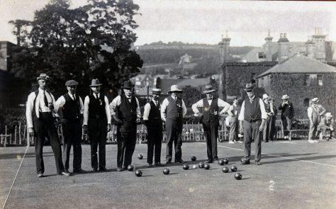 Bowls Club game in progress in Dover. c1914