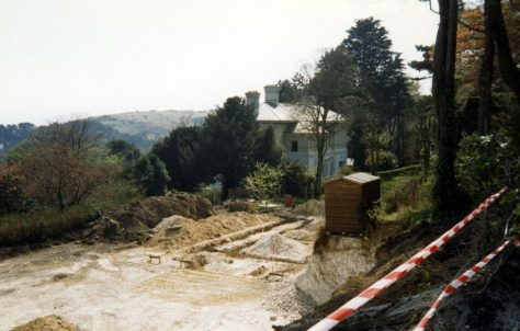 New house foundations in the garden of South Foreland House, Hotel Road. 1987
