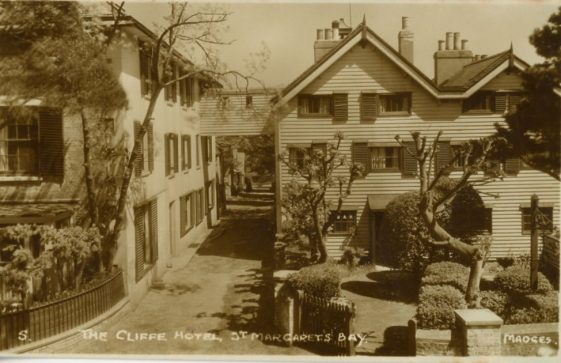 Cliffe Hotel and walkway over Cripps Lane. c1930
