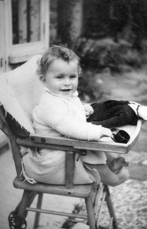 Child in high chair