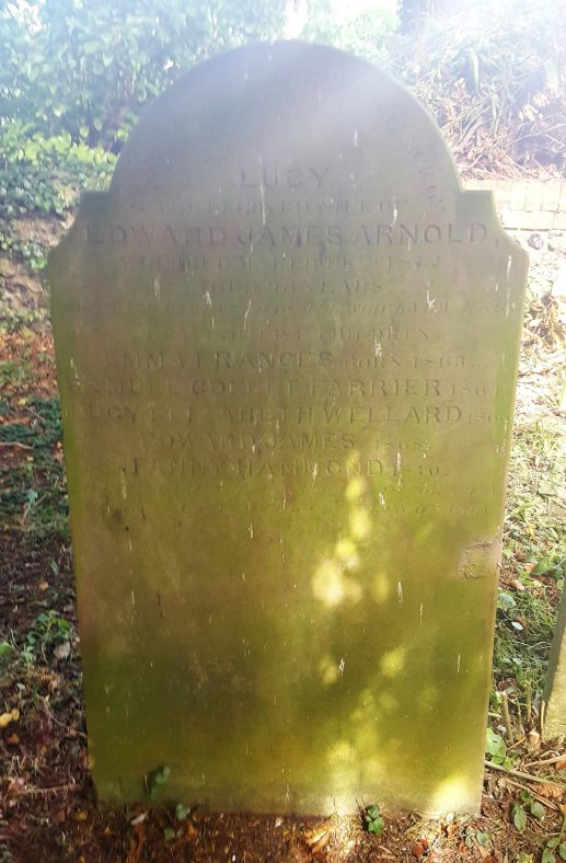 Gravestone of ARNOLD Lucy 1872 | Dawn Sedgwick