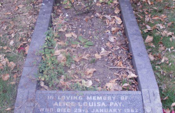 Gravestone of PAY Alice Louisa 1962