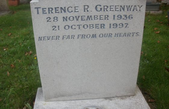 Gravestone of GREENWAY Terence 1997